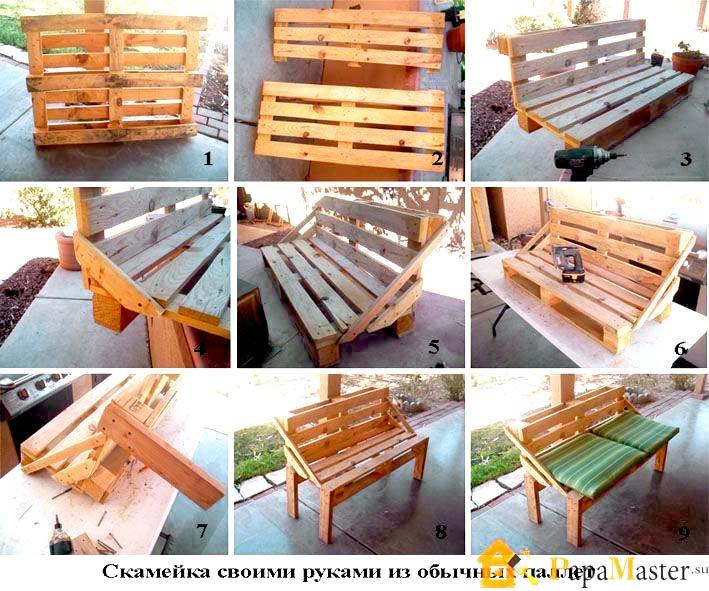 Дачная мебель из поддонов схемы шаблоны