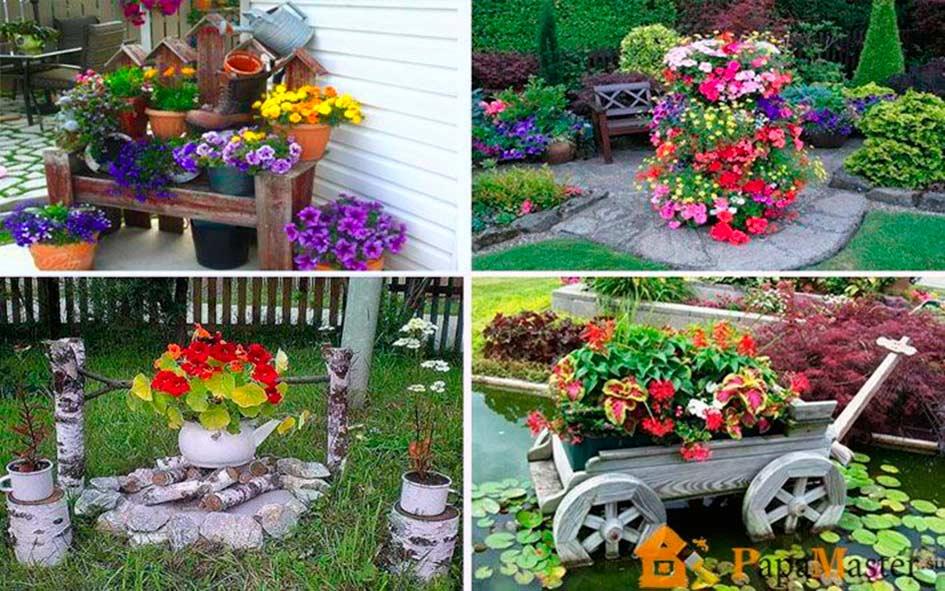 Как украсить сад и огород из подручных материалов фото