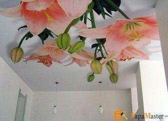 Натяжные тканевые потолки фото