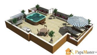пример проекта эксплуатируемой плоской крыши