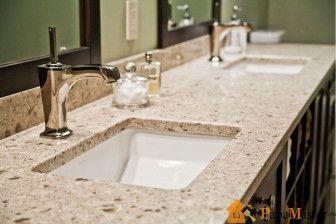 Столешница для раковины в ванную из искусственного камня
