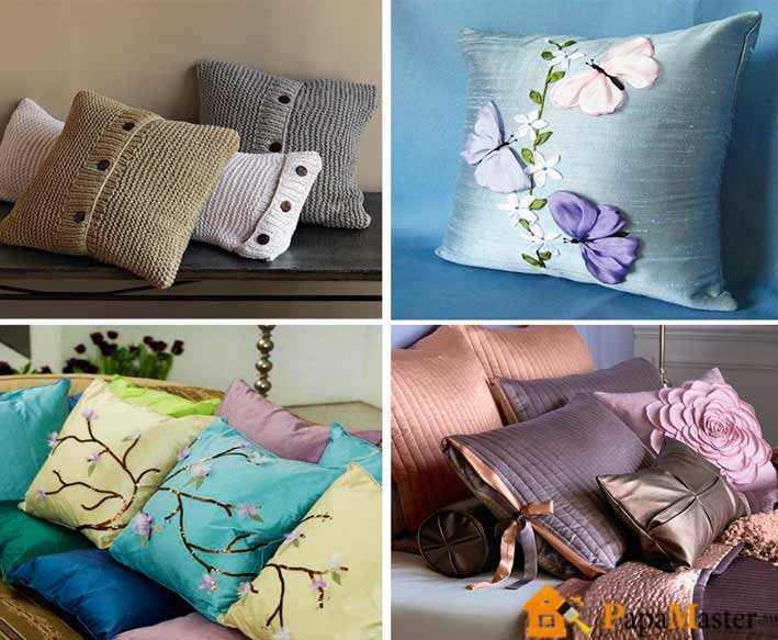 Маленькие подушки для дивана своими руками