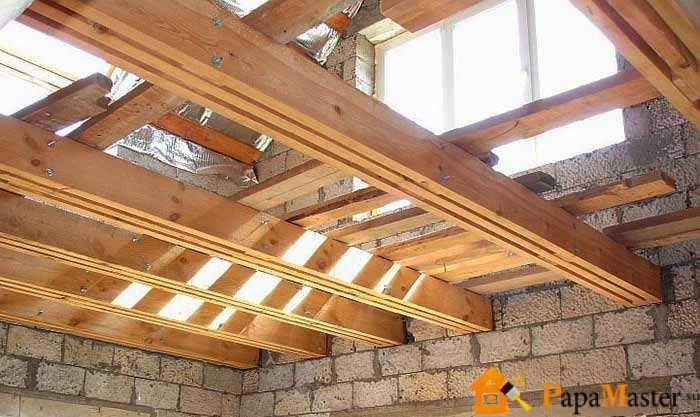 Как правильно сделать деревянное перекрытие между этажами