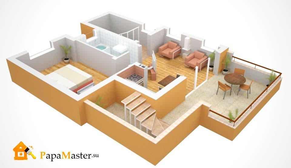 Частный дом  планировка