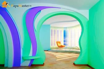 Фото межкомнатных арок из гипсокартона