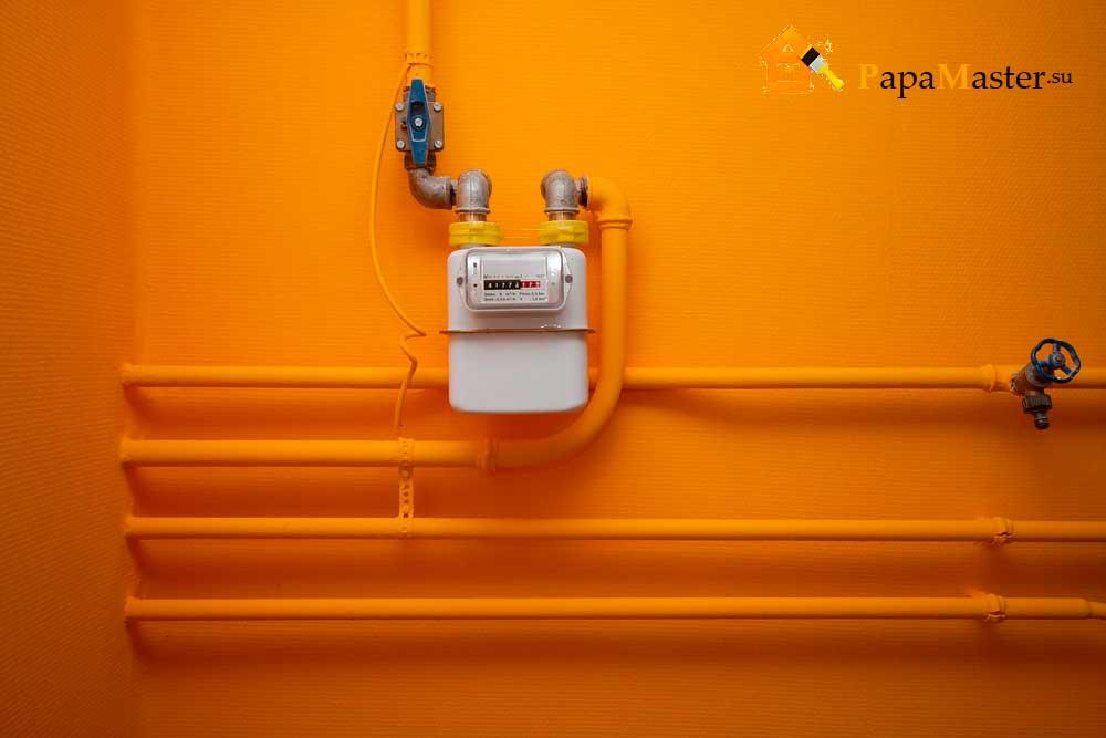 Установка счетчиков на газ