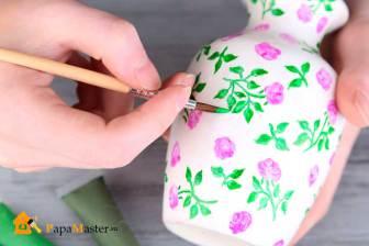 Роспись вазочки своими руками