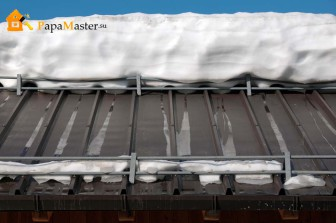 Снегозадержатели для крыши из металлочерепицы