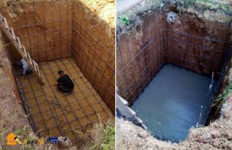 Армирование и заливка бетоном основания