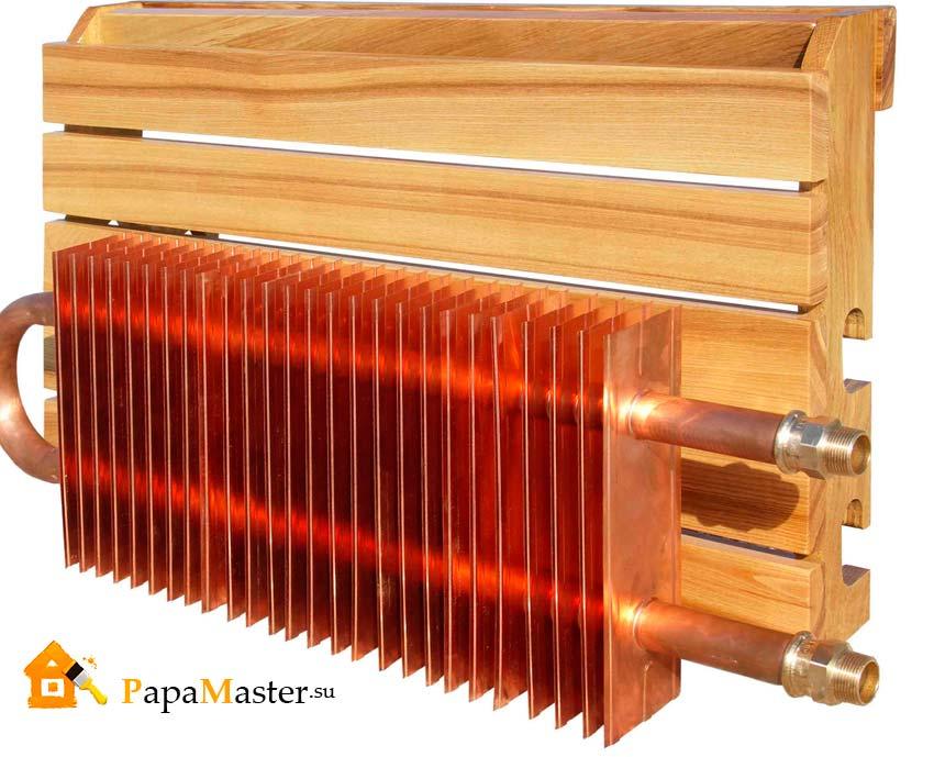 Медный радиатор для отопления своими руками