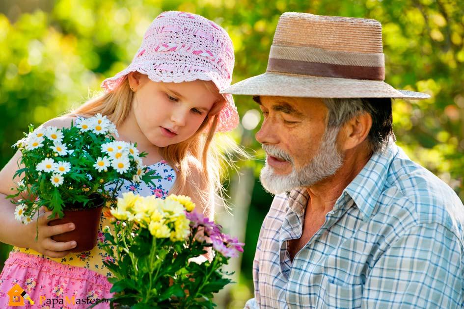 Фото дедушка и внучка 5 фотография
