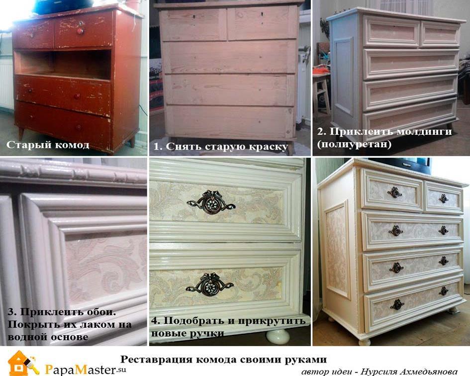 Обновить старую мебель своими руками фото до и 865