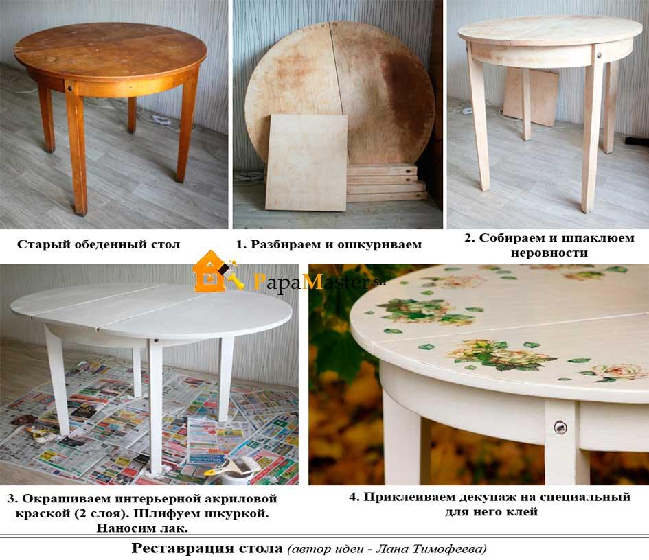Как старый стол сделать новым