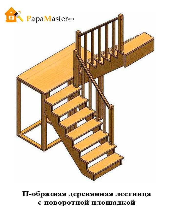 Сделать лестницу из дерева на второй этаж своими руками