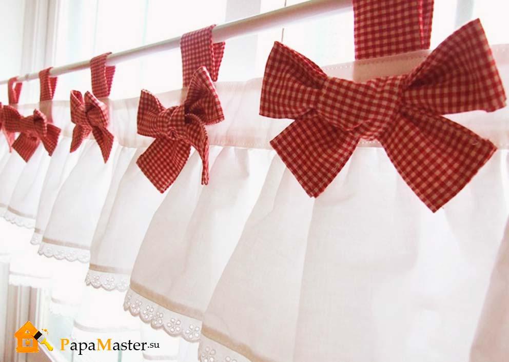 Шьем шторы для кухни своими руками мастер класс