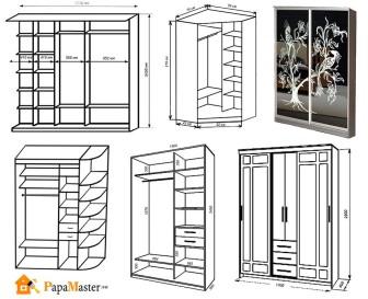 Шкаф из дсп чертеж