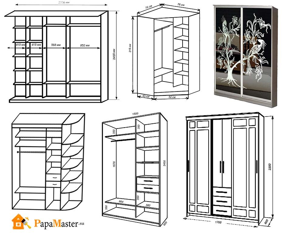 Шкафы своими руками чертежи