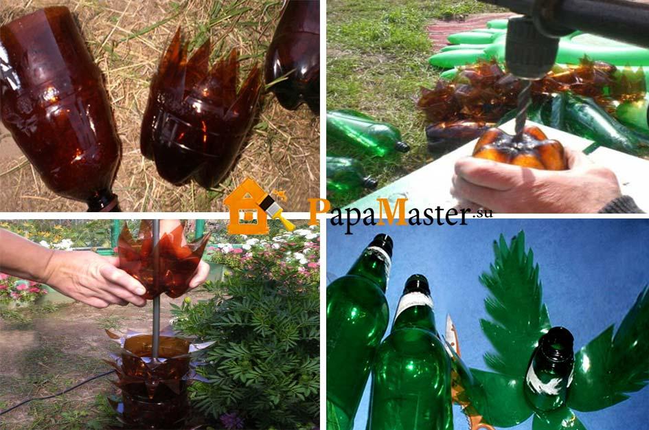 Пальма своими руками из бутылок пошагово с