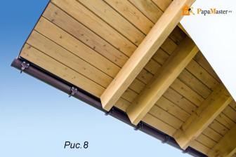 Подшивка карнизов крыши варианты