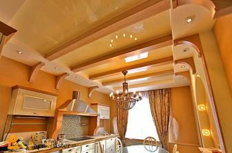 Пример комбинированного потолка