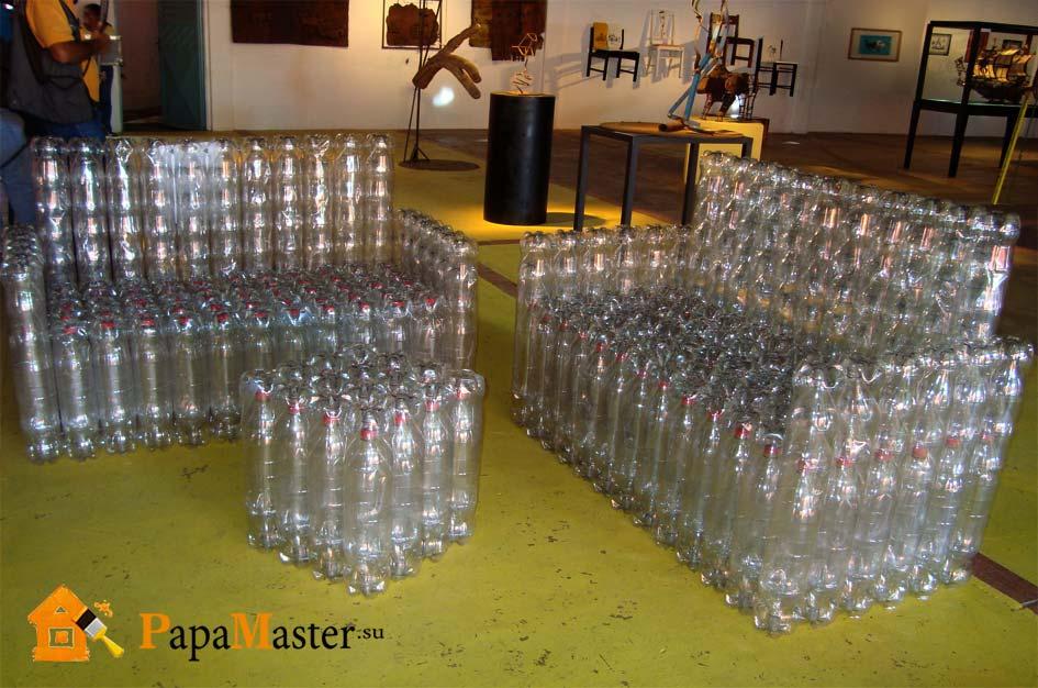 Столик из бутылок своими руками
