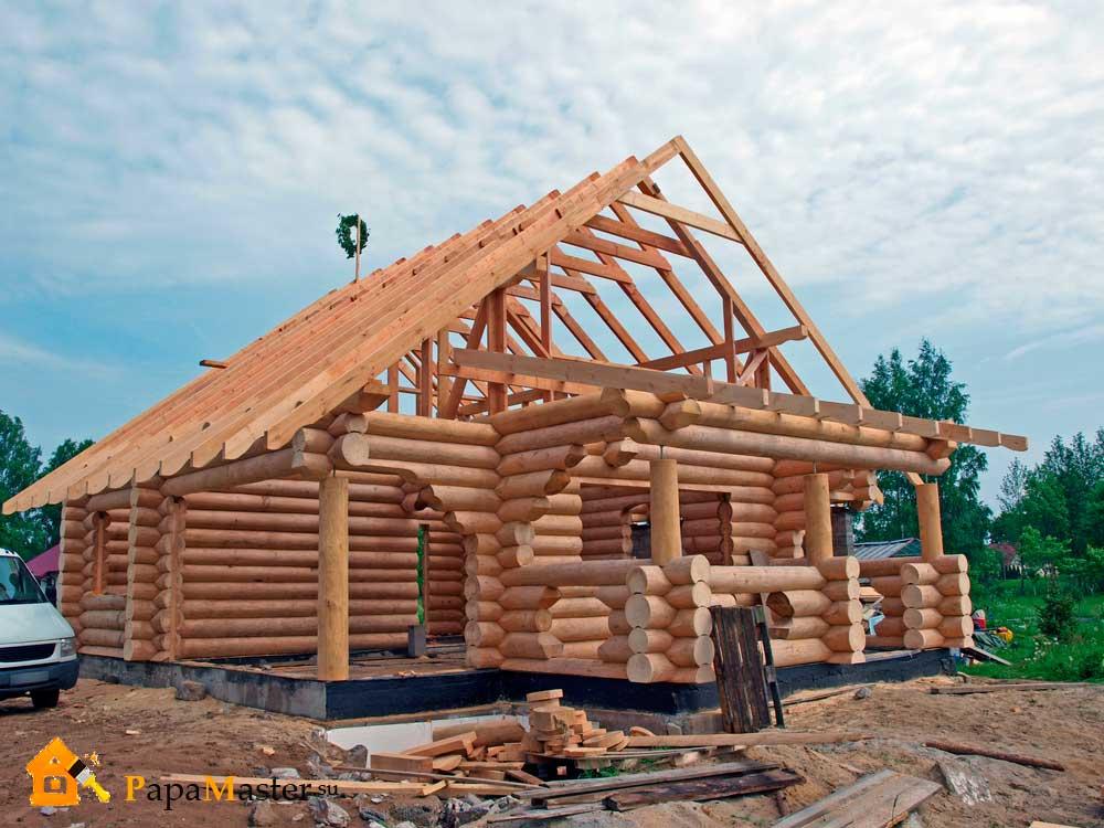 Строительство дома из оцилиндрованного бревна своими руками
