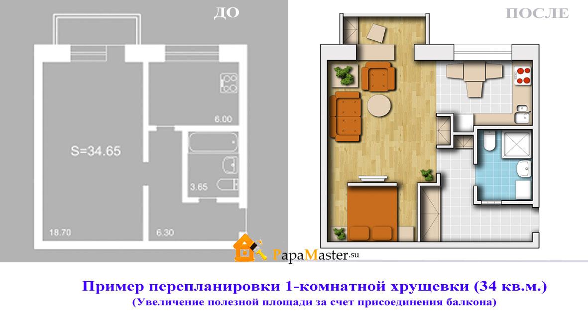 Перепланировка 1 комнатной хрущевки 29 метров - daev5.ru.