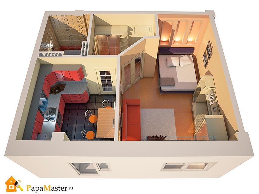 Дизайн двухкомнатной квартиры: 120 Лучших Интерьеров 2018