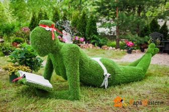 скульптура каркасная из растений