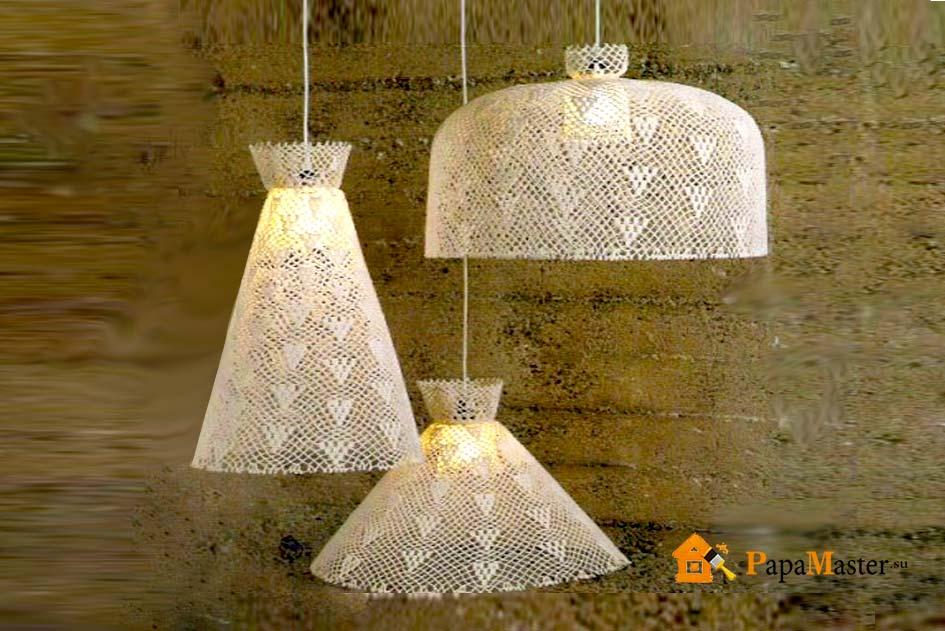 Плафоны для ламп сделать своими руками