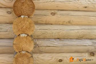 заделка пространства между венцами бревенчатой бани