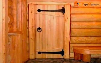 своими руками деревянные двери в баню