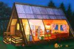 Конструктивные особенности проектов дома-шалаша и их преимущества