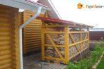 Подробное описание постройки дровницы своими руками по проекту с конкретными размерами