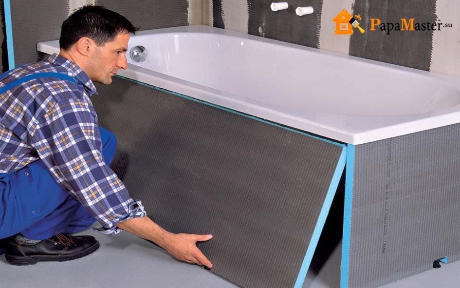 установка новой ванны