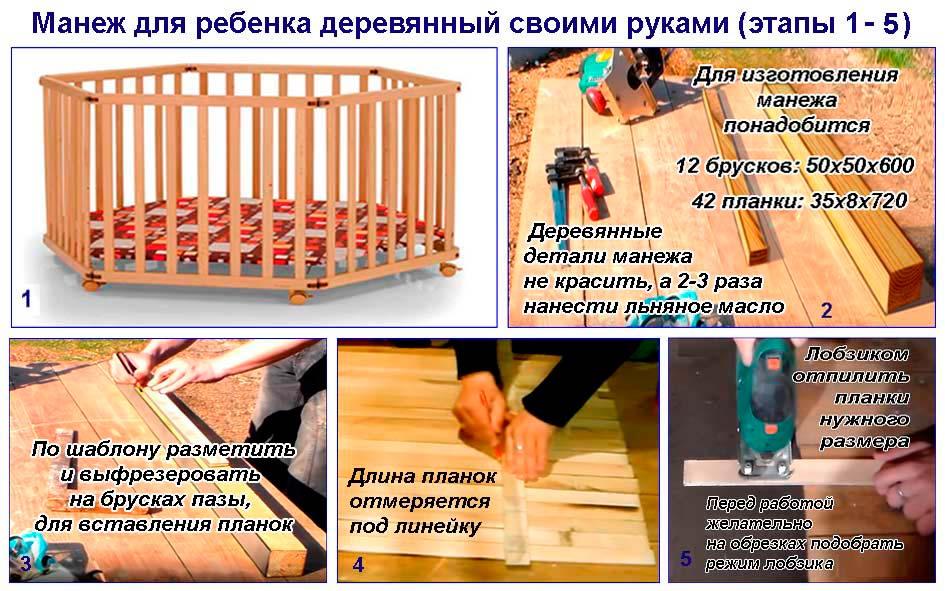 Как сделать манеж для ребёнка своими руками 40