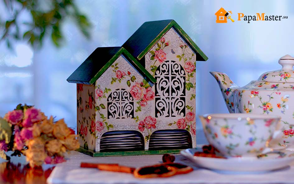 чайный домик декупаж своими руками фото