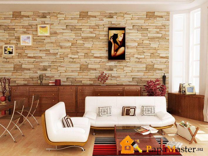 отделка квартир декоративным камнем из гипса фото