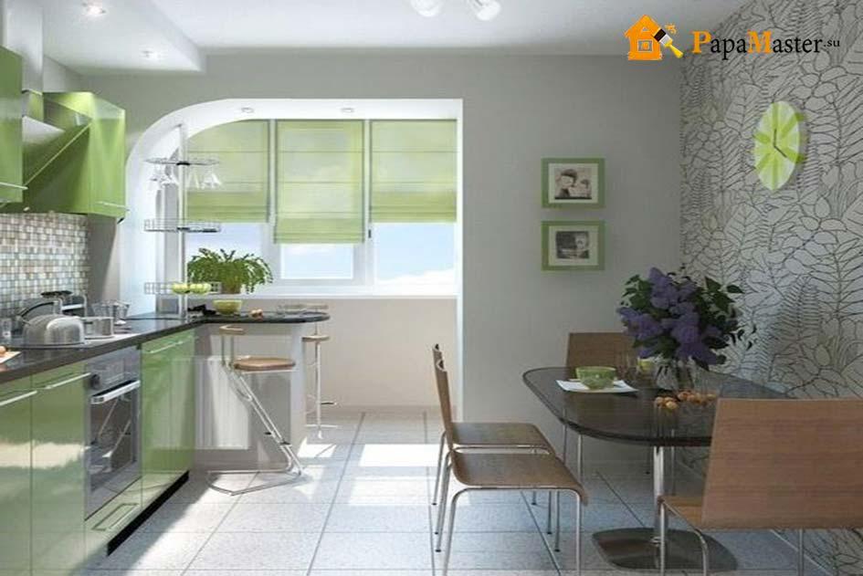 Прекрасным дизайном и простором обладает балкон, совмещенный.