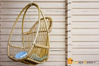 Кресло качели плетеные