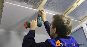 Пластиковые панели на потолок монтаж