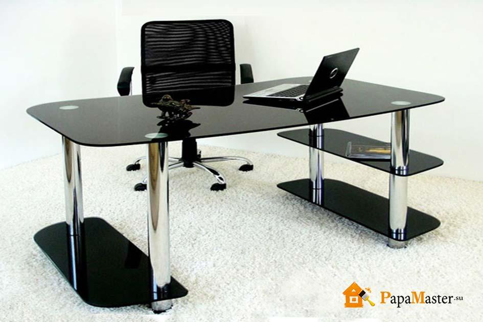 Стол компьютерный столешница стекло купить новый искуственный стол Акатьево