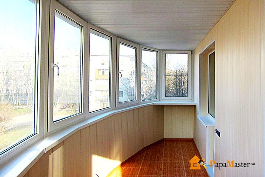 Как выполнить недорогую и стильную внутреннюю отделку балкон.