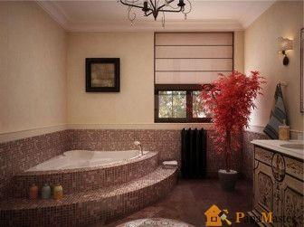 Дизайн ванной комнаты угловая ванна