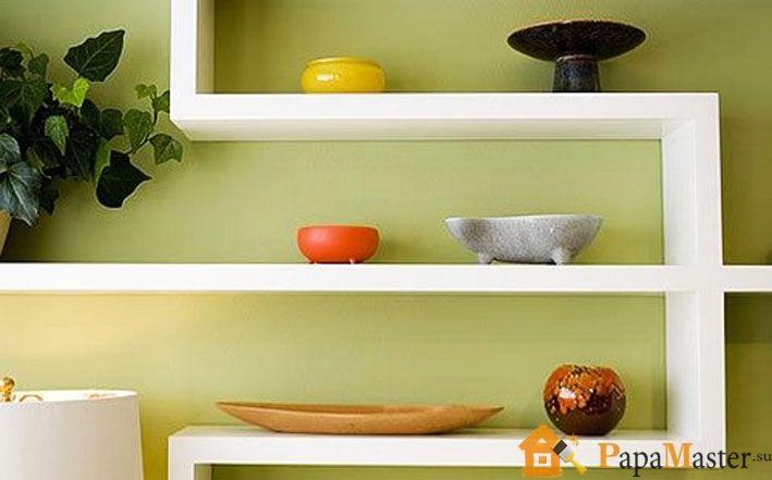 Полка из гипсокартона своими руками на кухне фото