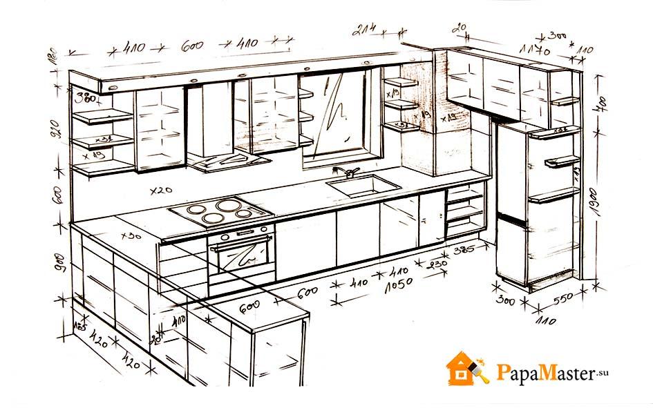 86Кухонную мебель своими руками чертежи