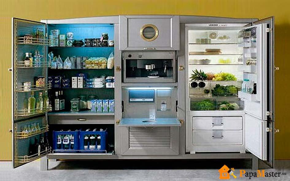 Крепления встроенного холодильника типы