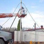 Столб для электричества на даче своими руками