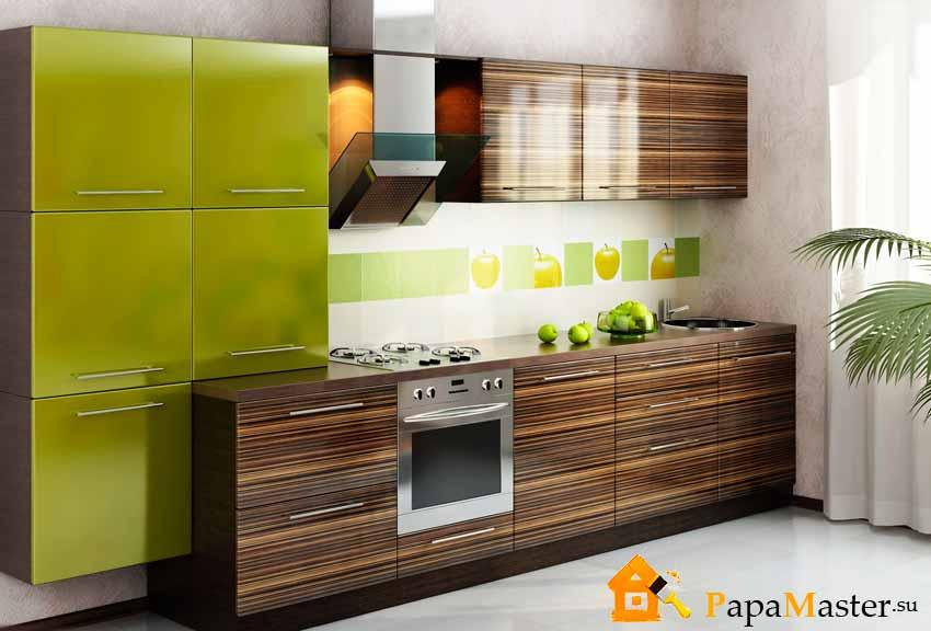Оливковый цвет кухня