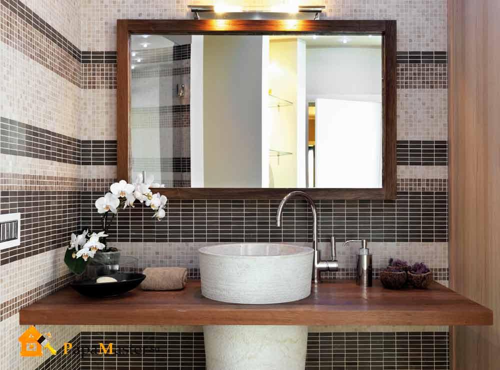 фото зеркало в ванной комнате